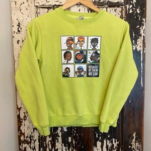 Because of them we CAN!  Kids sweatshirt. Size M